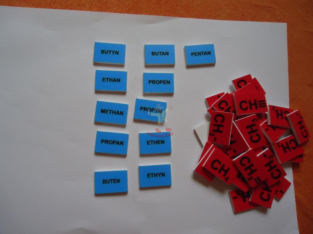 Plastové kartičky na tvorbu organických sloučenin