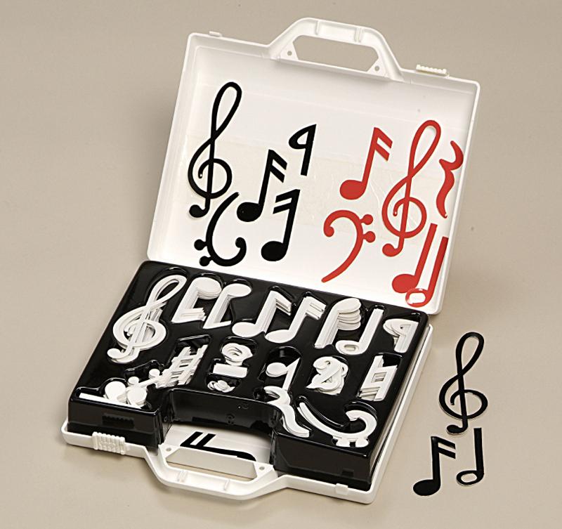 Souprava hudebních not v kufříku