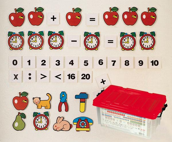 Demonstrační souprava číslicových a matematických úkonových karet