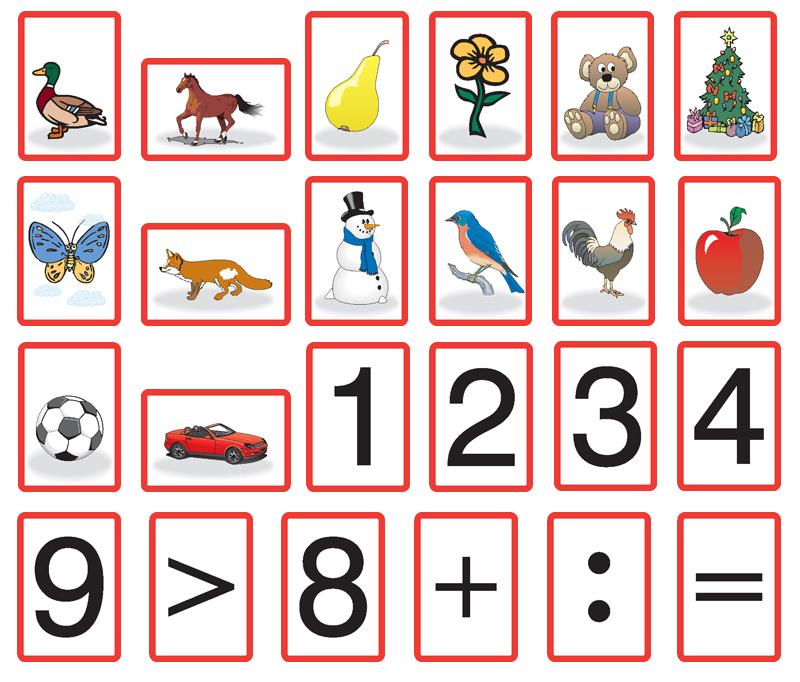 Magnetická číselná a znaková souprava s figurkamami