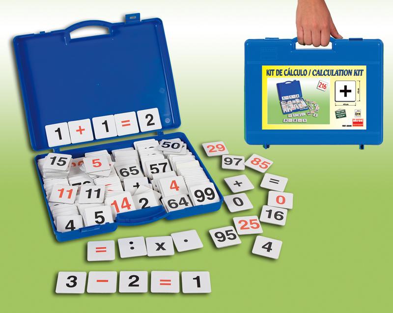 Souprava číslicových a matematických úkonových karet