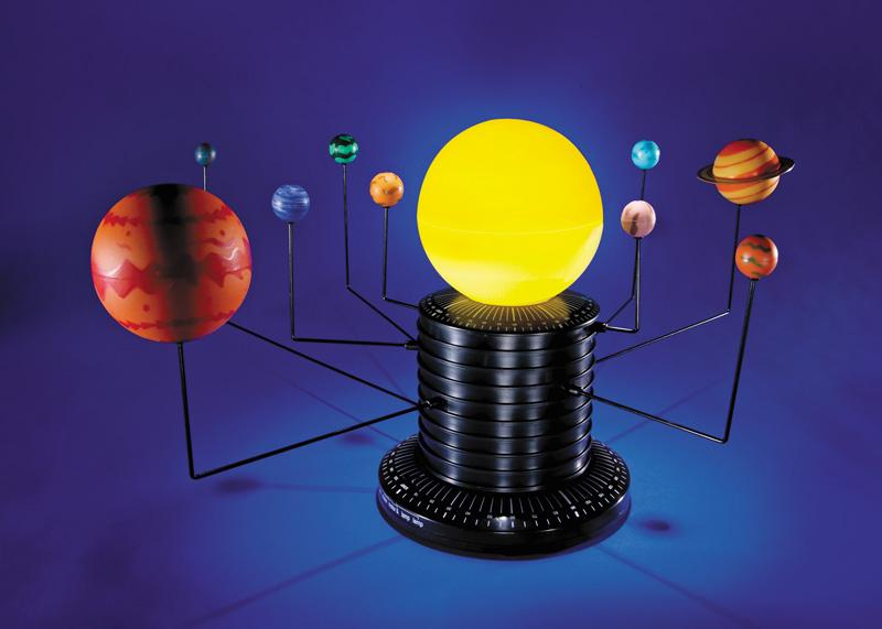 Motorizovaná sluneční soustava s podsvícením